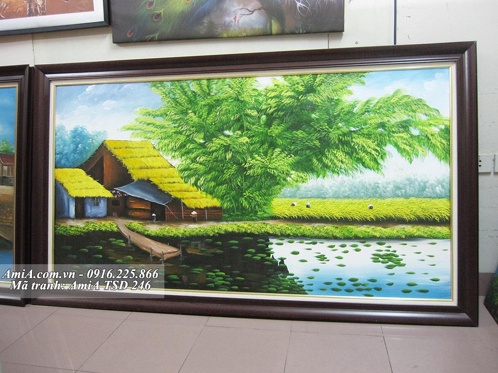 Tranh sơn dầu phong cảnh làng quê nông thôn quê em