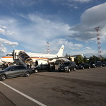 German Chancellor Angela Merkel arrives at Sofia Airport ahead of the EU - Western Balkans Summit