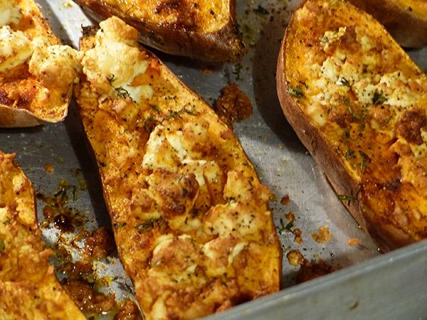 patates douces cuites