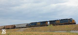 CSX 741 Leads SB Manifest Olathe, KS 4-13-17