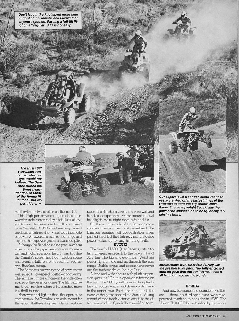 1989 Open Class ATV Shootout Page 2 | Dirt Wheels Magazine