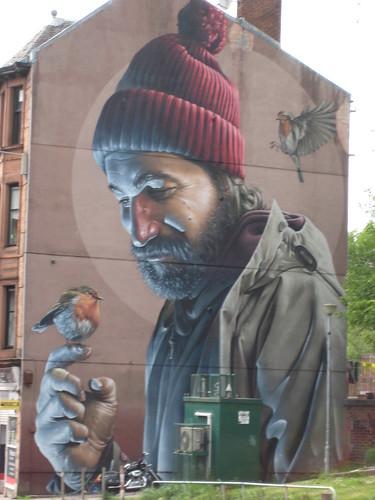 Glasgow High Street mural, by Smug