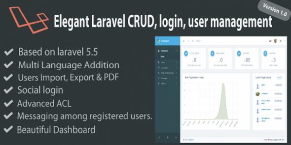 Elegant v1.0 – Laravel User Management And CRUD System