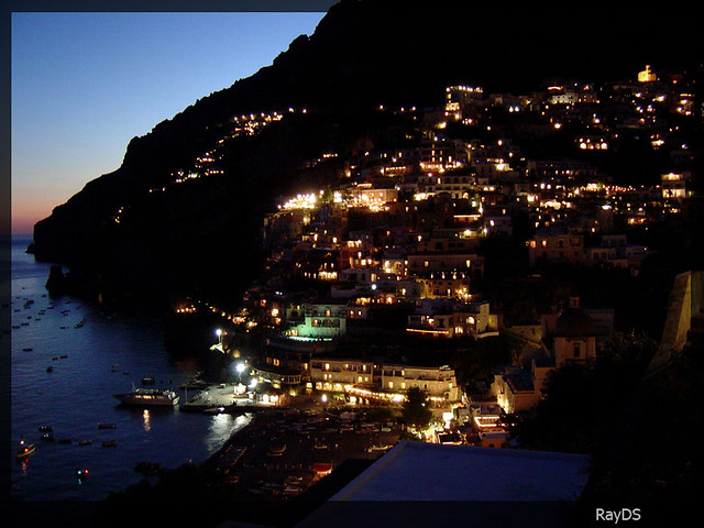 positano at night  italy
