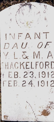 Daughter of Young and Mary Shackelford