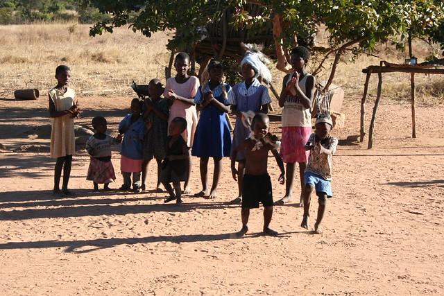 African Kids Dancing