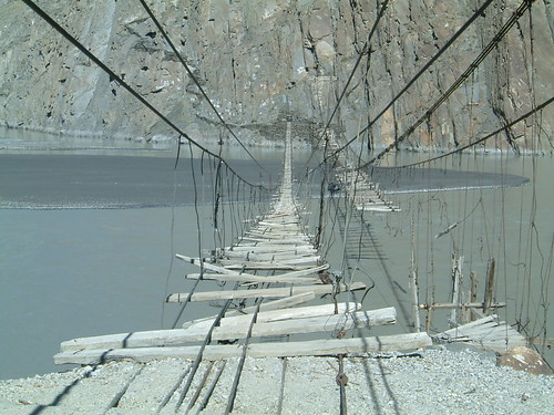 Hussaini suspension bridge, Passu - Pakistan