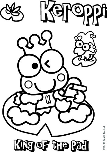 Keroppi King Of The Pad Coloring Page A Photo On Flickriver