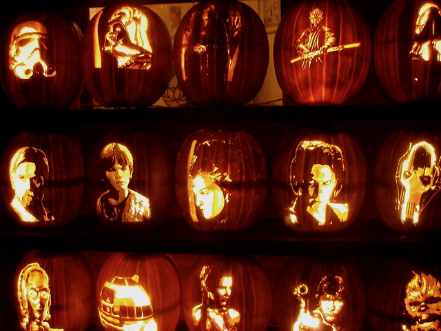 Beloit, WI: Carved pumpkins