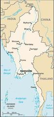 Karte von Myanmar