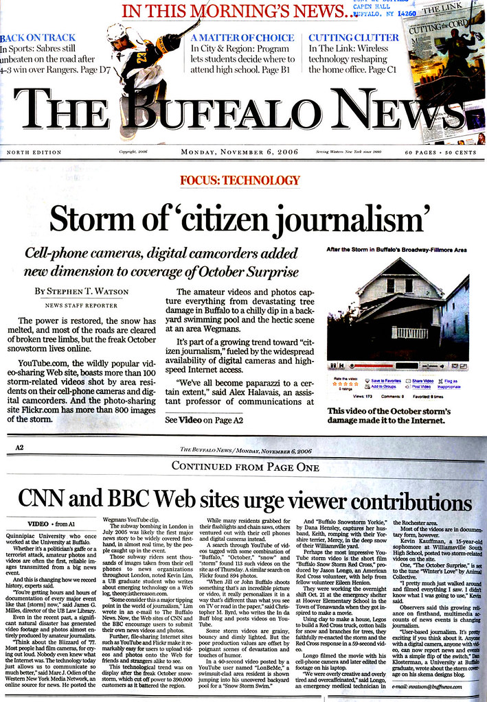 Quoted in Buffalo News about the local citizen journalism … | Flickr