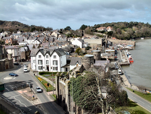 The cute town of Conwy.