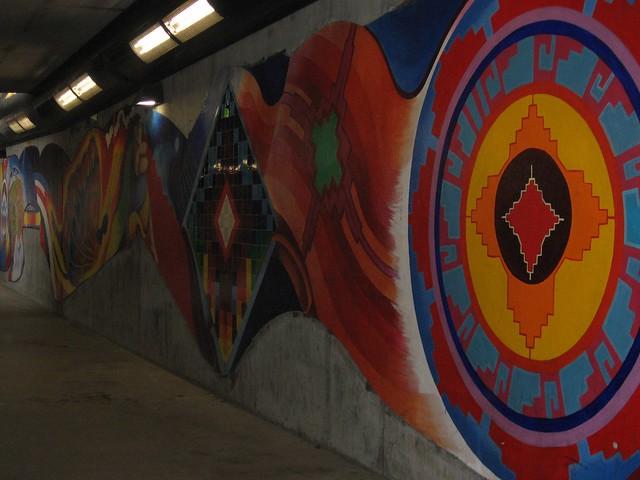 Pedestrian underpass mural flickr photo sharing for Mural z papiezem franciszkiem