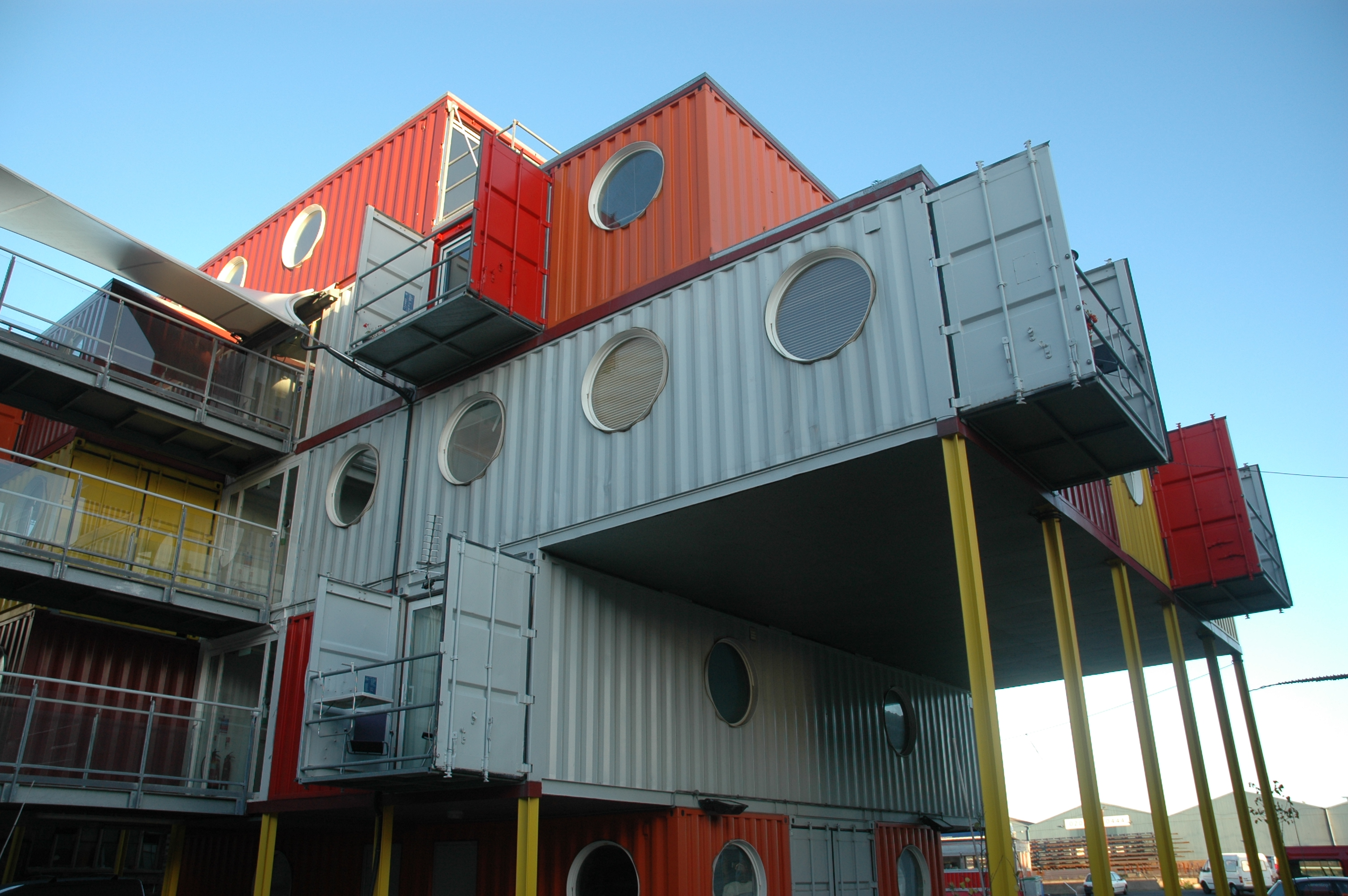 Container city london and fuller 39 s dymaxion a tour of container city - Container homes london ...