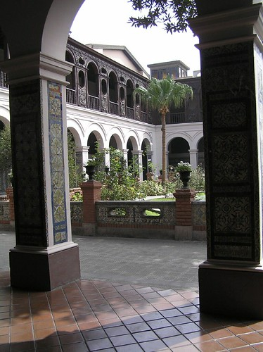 A glimpse inside the monastery