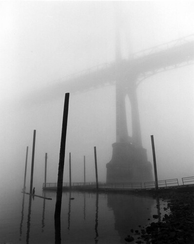 St Johns Bridge, Fog