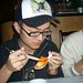 Small photo of Aleck Eating Tofu