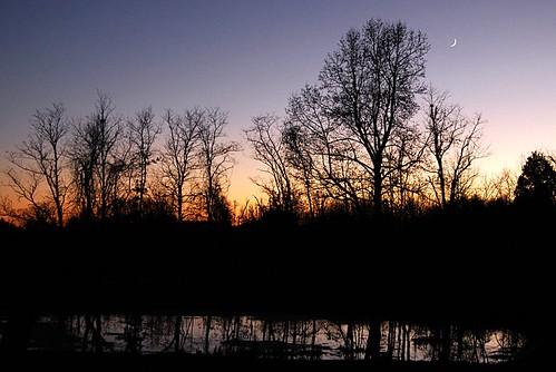 sunset moon reflection nikon d200 moonset miracleman robmiracle