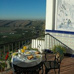 Breakfast on Patio - Arcos de la Frontera, Spain