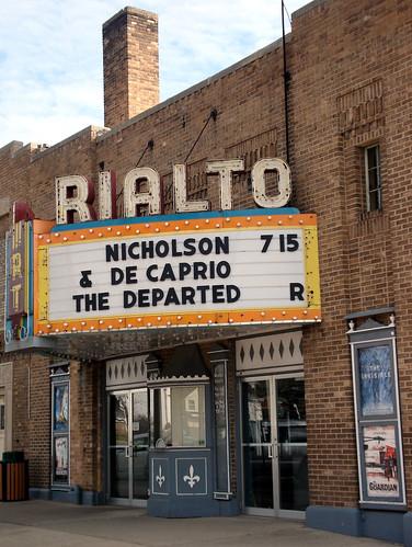 marquee theater michigan rialto movietheater leonardodicaprio jacknicholson rialtotheater grayling thedeparted
