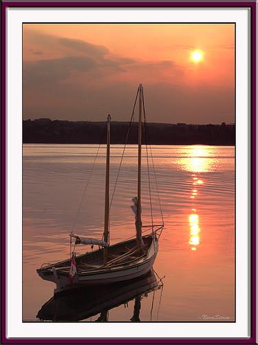 ocean water sailboat sunrise boats novascotia waterfront harbour halifax novastorm impressedbeauty