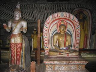 Statues of Buddha, Dambulla cave temple, Sri Lanka