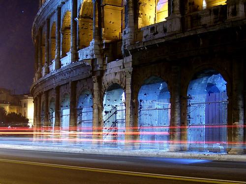 Colloseum at night
